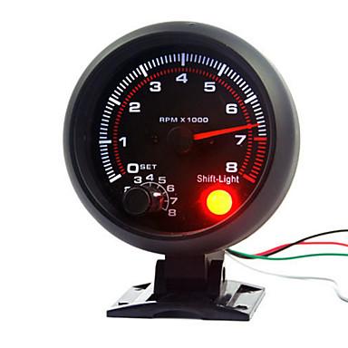 3,75 tuuman 95 mm: n dc12v-auton kierroslukumittari