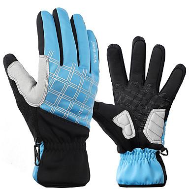 ราคาถูก ถุงมือปั่นจักรยาน-WEST BIKING® ถุงมือขี่จักรยาน ถุงมือสำหรับเสือภูเขา สัมผัสหน้าจอ รักษาให้อุ่น กันลม ระบายอากาศ Touch Screen Gloves กิจกรรมและถุงมือสำหรับกีฬา ฤดูหนาว Lycra ผ้าเทอร์รี่ ขี่จักรยานปีนเขา