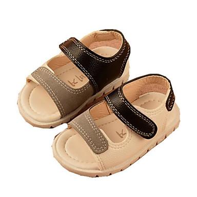 voordelige Babyschoenentjes-Jongens Comfortabel / Eerste schoentjes PU Sandalen Zuigelingen (0-9m) / Peuter (9m-4ys) Wit / Rood Zomer
