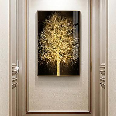 Недорогие Картины в рамах-золото дерево ботанические принты роскошный стиль в рамке стены искусства