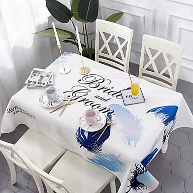 עכשווי יום יומי כותנה סיבי פוליאסטר ריבוע Cube כיסויי שולחן מפות שולחן פרחוני מעוטר מדפיס ידידותי לסביבה עמיד במים פרח לוח קישוטים