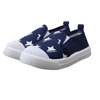 voordelige Babyschoenentjes-Jongens / Meisjes Comfortabel Canvas Loafers & Slip-Ons Peuter (9m-4ys) / Little Kids (4-7ys) Wandelen Zwart / Rood / Blauw Zomer / Rubber
