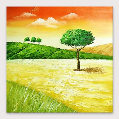 Hang-Boyalı Yağlıboya Resim El-Boyalı - Soyut Modern Iç çerçeve dahil / Gerilmiş kanvas