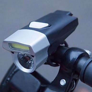 LED Pyöräilyvalot Polkupyörän etuvalo Polkupyörän etuvalaisin LED Maastopyöräily Pyöräily Vedenkestävä Turvallisuus Uusi malli Li-polymeeri 245 lm Sisäänrakennettu virtalähde Valkoinen Telttailu