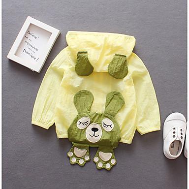 preiswerte Mode für Mädchen-Baby Mädchen Grundlegend Solide Bestickt Standard Baumwolle Anzug & Blazer Weiß