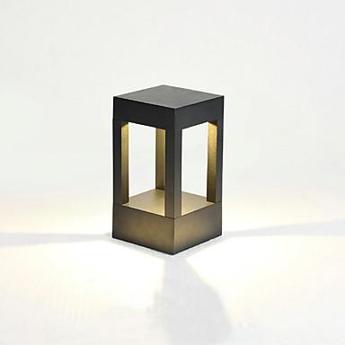billige Utendørsbelysning-1pc 2 w solvegg lys lys kontroll / sol / vanntett varm hvit + hvit 3,7 v utendørs belysning / gårdsplass / hage 1 ledet perler