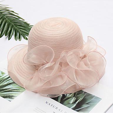 abordables Coiffes-Imitation de perle / Organza Fascinators / Coiffe avec Noeud / Fleur / Etagée 1 Mariage / De plein air Casque