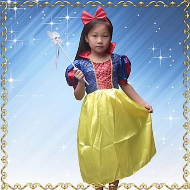 Prinsessa Mekot Cosplay-Asut Tyttöjen Elokuva Cosplay Cosplay Halloween Sininen Leninki Headwear Halloween Karnevaali Masquerade Paillette Polyesteria