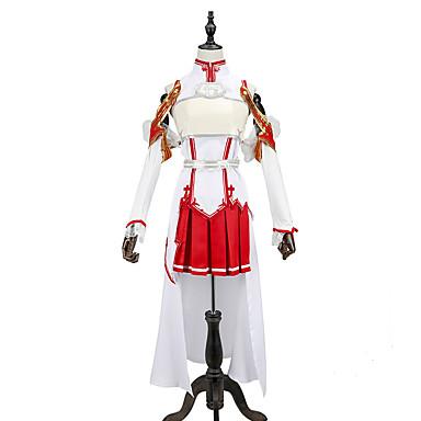 Inspirado por Alicización de SAO Yuuki asuna Animé Disfraces de cosplay Trajes Cosplay Retazos Sin Mangas Top / Falda / Mangas Para Hombre / Mujer