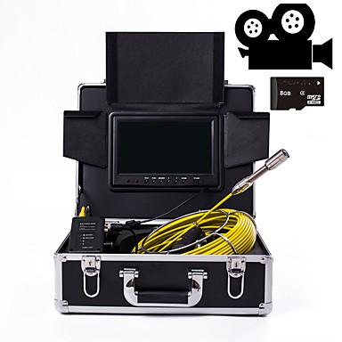 voordelige Microscopen & Endoscopen-23 mm lens industriële endoscoop 30 m werklengte 9-inch display met videocamera functie autoreparatie inspectie pijplijnreparatie