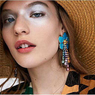 Women's Multicolor Vintage Style Drop Earrings Earrings Flower European Jewelry Red / Blue / Light Pink For Daily 1 Pair