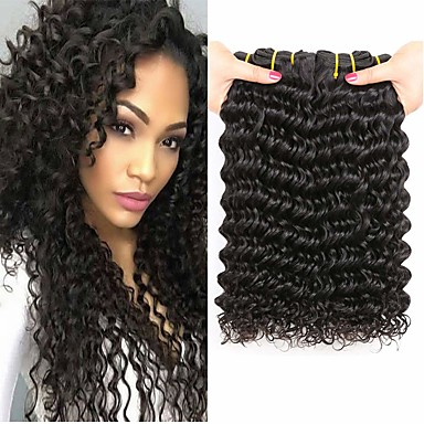 3 svazky Mongolské vlasy Velké vlny 100% Remy vlasy Weave svazky Lidské vlasy Vazby Příčesky z pravých vlasů Pletený 8-28 inch Přírodní barva Lidské vlasy Vazby Klasické Nejlepší kvalita Žhavá sleva