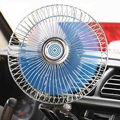 billige Bil Elektronikk-6 tommers bilvifte justerbar hastighet roterbar stor mengde vind lav lydklemmevifte 12 / 24v