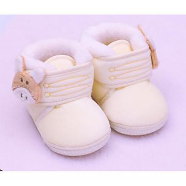 voordelige Babyschoenentjes-Meisjes Comfortabel / Eerste schoentjes Katoen Laarzen Peuter (9m-4ys) Beige / Blauw / Roze Winter / Korte laarsjes / Enkellaarsjes