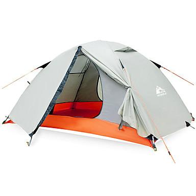 Hewolf 2 الأشخاص خيمة التخييم العائلية في الهواء الطلق ضد الهواء مكتشف الأمطار يمكن ارتداؤها طبقات مزدوجة قطب الماسورة خيمة التخييم >3000 mm إلى Camping / Hiking / Caving تنزه قماش اكسفورد