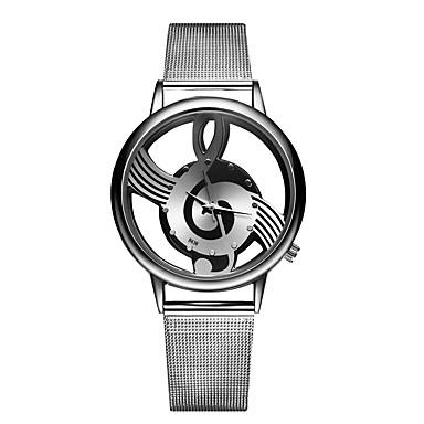 baratos Relógios Homem-Casal Relógio Elegante Quartzo Aço Inoxidável Prata Criativo Relógio Casual Analógico Fashion - Prata Ouro Rose Um ano Ciclo de Vida da Bateria