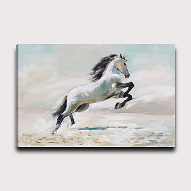 hesapli Tablolar-Boyama Gerdirilmiş Tuval Resimleri - Hayvanlar Modern Modern Sanatsal Baskılar