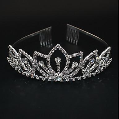 baratos Joia do miúdo-Mulheres senhoras Festa Estilo bonito Elegante Strass Prata Chapeada Liga Sólido