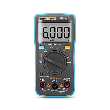 voordelige Test-, meet- & inspectieapparatuur-zt101 zt102 digitale automatische bereik multimeter 6000 telt achtergrondverlichting ac / dc ampèremeter voltmeter ohm draagbare meter spanningsmeter