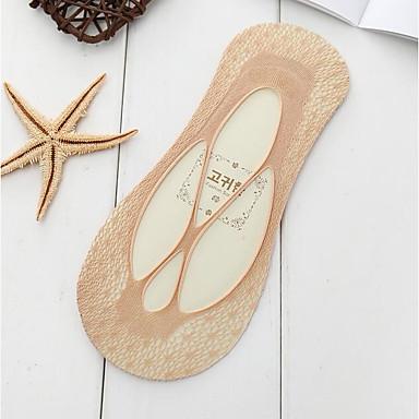 abordables Accessoires pour Chaussures-10 paires Femme Chaussettes Couleur Pleine Déodorant Polyester EU36-EU46