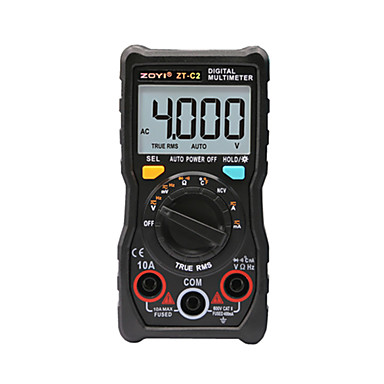 voordelige Test-, meet- & inspectieapparatuur-digitale multimeter temperatuur automatisch variërend true-rms intelligent ncv 4000 telt ac / dc spanningsstroom 40m ohm zt-c2