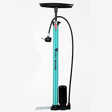 WEST BIKING® Bike Pumput Pyörän lattiapumppu, jossa on mittari Kannettava Kevyt Kestävä Korkeapaine Tarkka inflaatio Käyttötarkoitus Maantiepyörä Maastopyörä Pyöräily Terässekoitus Musta Sininen