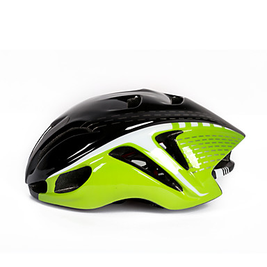 abordables Casques de Cyclisme-WEST BIKING® Adulte Casque de vélo 16 Aération CE Résistant aux impacts Intégralement moulé Réglable EPS PC Des sports Vélo de Route Vélo tout terrain / VTT Activités Extérieures - noir / vert Noir