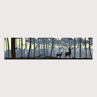 abordables Toiles-Imprimé Impressions sur toile roulées - Paysage Animaux Moderne Art Prints