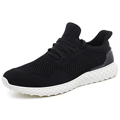 Erkek Ayakkabı Örümcek Ağı Yaz / Sonbahar Sportif / Günlük Atletik Ayakkabılar Koşu / Yürüyüş Atletik / Günlük için Siyah / Beyaz / Gri