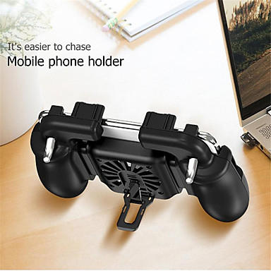 voordelige Smartphone gaming-accessoires-h5 warmtedissipatie gaming pad aim buttons chicken-eating artefact game assist tools with fan for pubg voor schietspellen