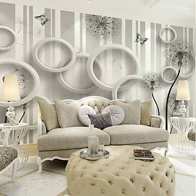 Wallpaper / Mural / Wall Cloth Canvas Wall Covering   Adhesive Required Art  Deco / 3D