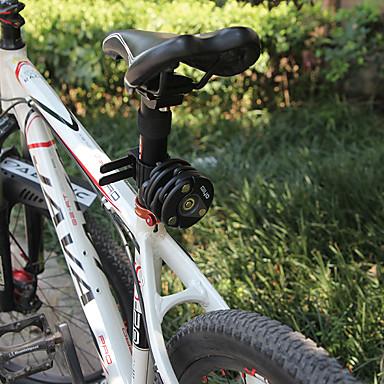 billige Sykkeltilbehør-GIYO Kjedelås til sykkel Bærbar Sammenleggbar låsing Security Holdbar Anti-skjæring Til Vei Sykkel Fjellsykkel Sykkel med fast gir Sykling Sinklegering Plast Svart