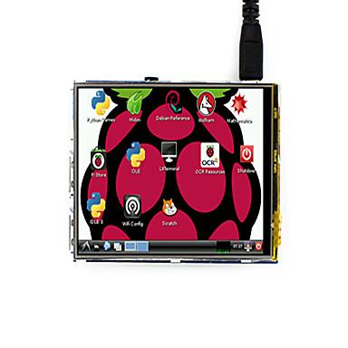 320 × 480, 3,5 inčni LCD zaslon osjetljiv na dodir tft, dizajniran za maline pi 3 modela b / b +, waveshare