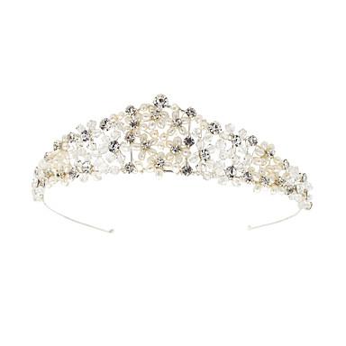 abordables Coiffes-Métallique / Imitation de perle / Alliage Diadèmes / Casque avec Strass / Perle / Détail Perle 1 Pièce Mariage / Anniversaire Casque