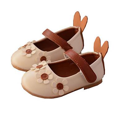 voordelige Babyschoenentjes-Meisjes Comfortabel PU Platte schoenen Peuter (9m-4ys) Beige / Roze Lente