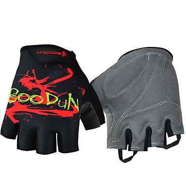 Χαμηλού Κόστους Γαντια Ποδηλασίας-BOODUN Γάντια ποδηλασίας Αναπνέει Αντιολισθητικό Anti Transpirație Προστατευτικό Μισά Δάχτυλα Γάντια για Δραστηριότητες/ Αθλήματα Mesh Γέλη σιλικόνης Ποδηλασία Βουνού Λευκό Μαύρο για Ενηλίκων