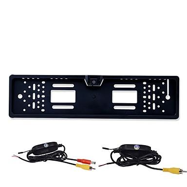 billige Bil Elektronikk-BYNCG rear view camera 480TVL 480 TV-Lines 1/4 tommers CMOS OV7950 Trådløs 90 grader 3.5-12 tommers Bakside Kamera LED-indikator til Bil