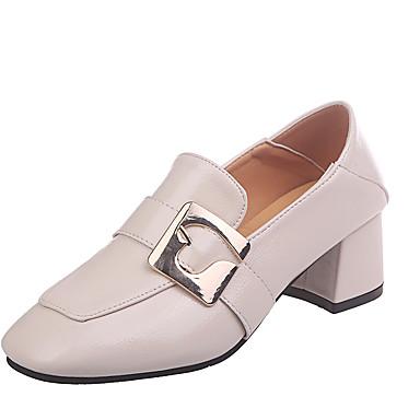 363adcf13 baratos Sapatos Femininos-Mulheres Couro Ecológico Primavera Casual  Mocassins e Slip-Ons Salto Robusto