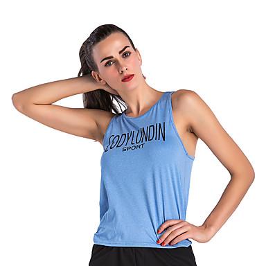 Naisten Yoga Top Urheilu Kirjain Liivi Topit Jooga Juoksu Fitness Hihaton Activewear Hengittävä Nopea kuivuminen Hikeä siirtävä Elastinen Löysä