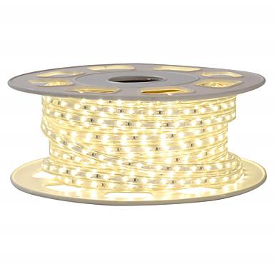 abordables Bandes Lumineuses LED-kwb 5 m shine décor led bande lumières 220v flexible étanche corde lumières 3014 600leds pour intérieur extérieur ambiant éclairage commercial décoration