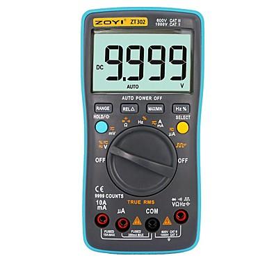 voordelige Test-, meet- & inspectieapparatuur-zoyi zt302 meting 9999 telt multimeter automatisch bereik true rms digitaal elektrisch testapparaat