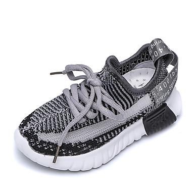 voordelige Babyschoenentjes-Jongens / Meisjes Lichtzolen Netstof Sneakers Peuter (9m-4ys) / Little Kids (4-7ys) / Big Kids (7jaar +) Wandelen Zwart / Geel / Roze Zomer / Rubber