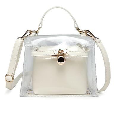 55f5126ca64 Women s Bags PVC(PolyVinyl Chloride)   PU(Polyurethane) Bag Set 2 Pieces  Purse Set Buttons Red   Pink   Yellow