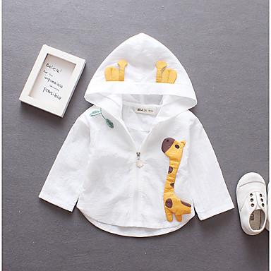 Недорогие Одежда для девочек-Дети (1-4 лет) Девочки Классический Однотонный Вышивка Обычная Хлопок Костюм / блейзер Белый
