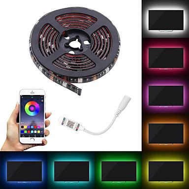 abordables Bandes Lumineuses LED-le câble flexible mené imperméable de couleur de 60led rgb de la pièce rapportée 5050 avec le contrôle de tv de contrôle d'application
