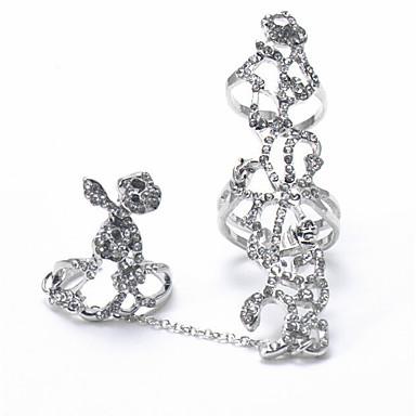 Dámské Kubický zirkon Prsten Sada kroužků Jednoduchý Moderní Fashion Ring Šperky Zlatá / Stříbrná Pro Svatební