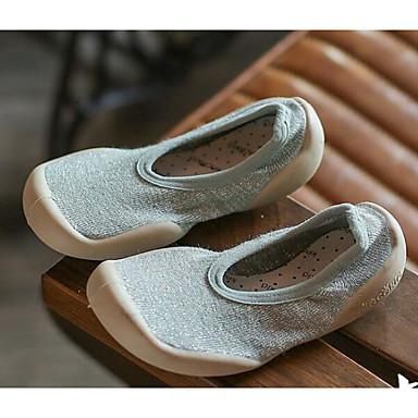 voordelige Babyschoenentjes-Meisjes Comfortabel / Eerste schoentjes Elastische stof Loafers & Slip-Ons Peuter (9m-4ys) / Little Kids (4-7ys) Geel / Roze / Lichtblauw Lente