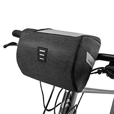 billige Sykkelvesker-ROSWHEEL Mobilveske Vesker til sykkelstyre 6.2 tommers Berøringsskjerm Vanntett Sykling til iPhone 8 Plus / 7 Plus / 6S Plus / 6 Plus iPhone X Svart Vei Sykkel Fjellsykkel Utendørs