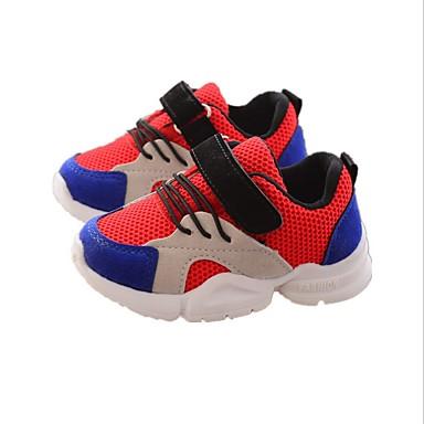 זול לגילאים 0-9.-בנים / בנות רשת נעלי אתלטיקה תינוקות (0-9m) / פעוט (9m-4ys) / ילדים קטנים (4-7) נוחות לבן / אדום / ורוד אביב / קיץ