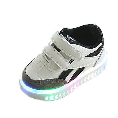 voordelige Babyschoenentjes-Jongens Microvezel Sneakers Peuter (9m-4ys) / Little Kids (4-7ys) Oplichtende schoenen Wit / Zwart / Rood Lente / Herfst / Rubber